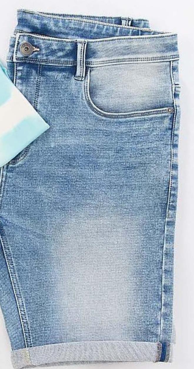 Short DMG - Lichtblauwe denim - maat XL - Heren   - Goedkope Shorts & capri's - Capri's - Katoen - Korte broek Nog op zoek naar een casual short voor mannen? Wat dacht je van dit model in washed denim van het merk DMG?