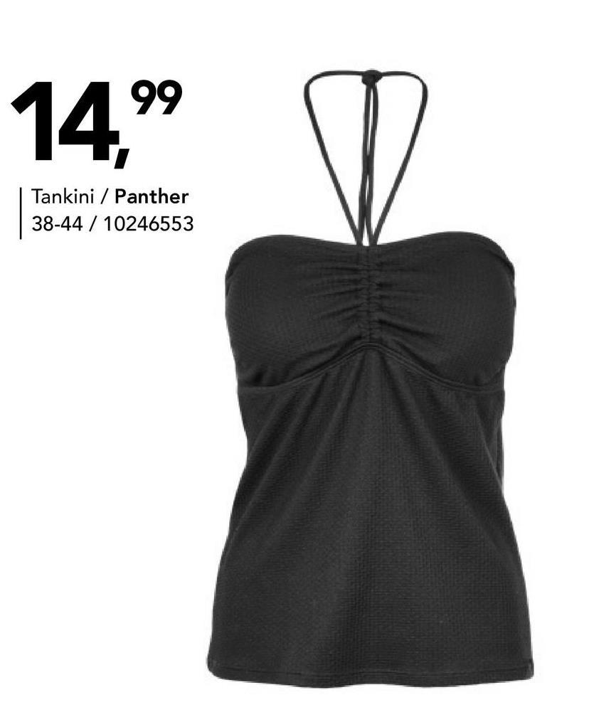 Tankinitop Panther - Zwart - maat 40 - Dames   - Goedkope Badmode - Polyester Zwarte tankinitop voor dames van het merk Panther. Koop een bijpassend zwart bikinibroekje naar keuze.