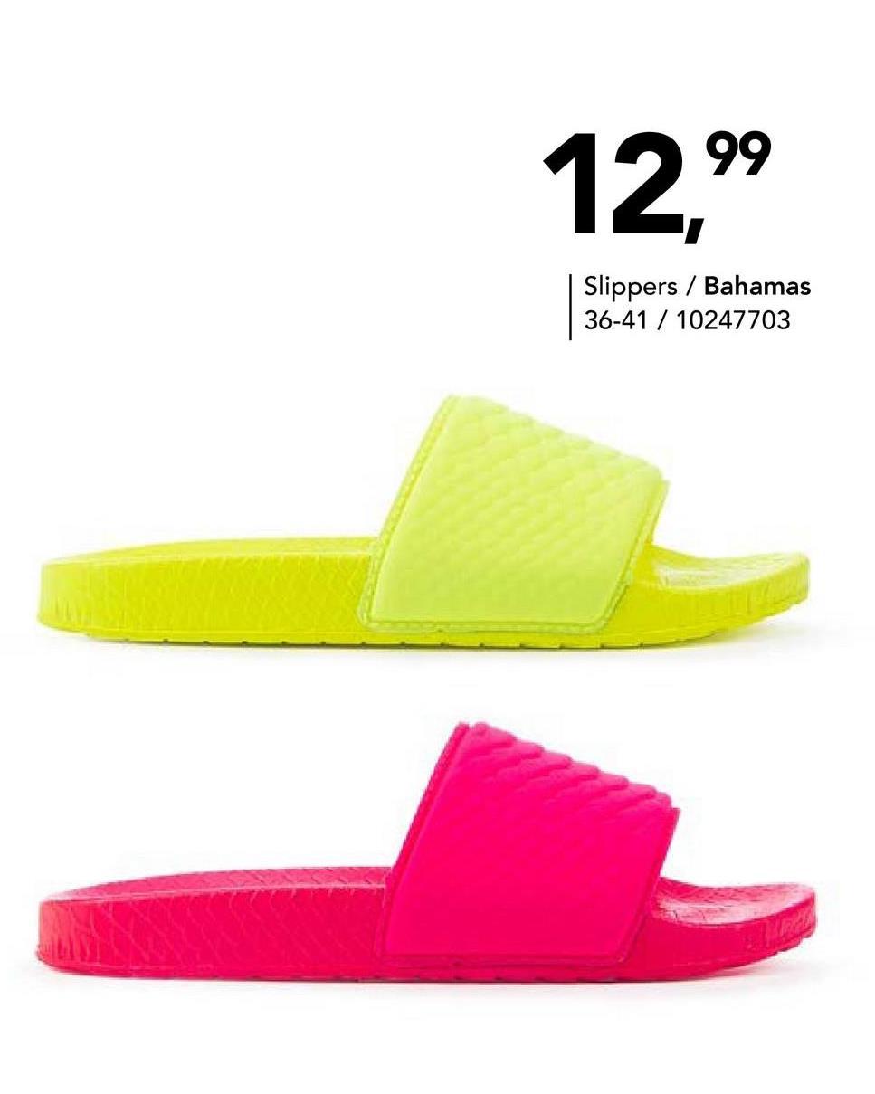 Slipper fluo Bahamas - Fluoroze - maat 36 - Dames   - Goedkope Badslippers - Synthetisch Damesslipper in een fluokleurtje van het merk Bahamas. Perfect om te dragen op het strand, aan het zwembad of gewoon thuis!