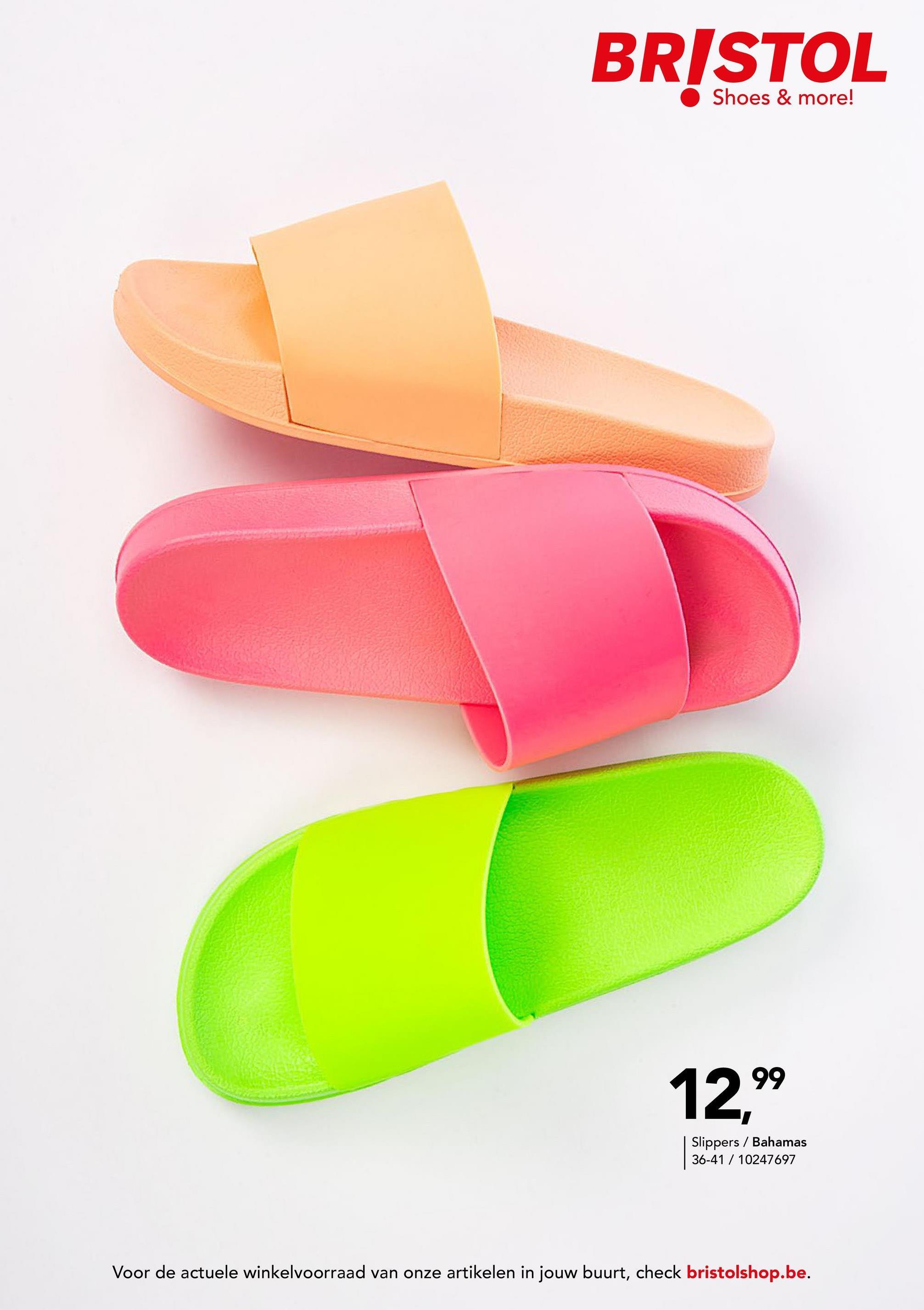Effen slipper Bahamas - Fluoroze - maat 37 - Dames   - Goedkope Badslippers - Synthetisch Damesslipper in een effen kleur van het merk Bahamas. Perfect om te dragen op het strand, aan het zwembad of gewoon thuis!
