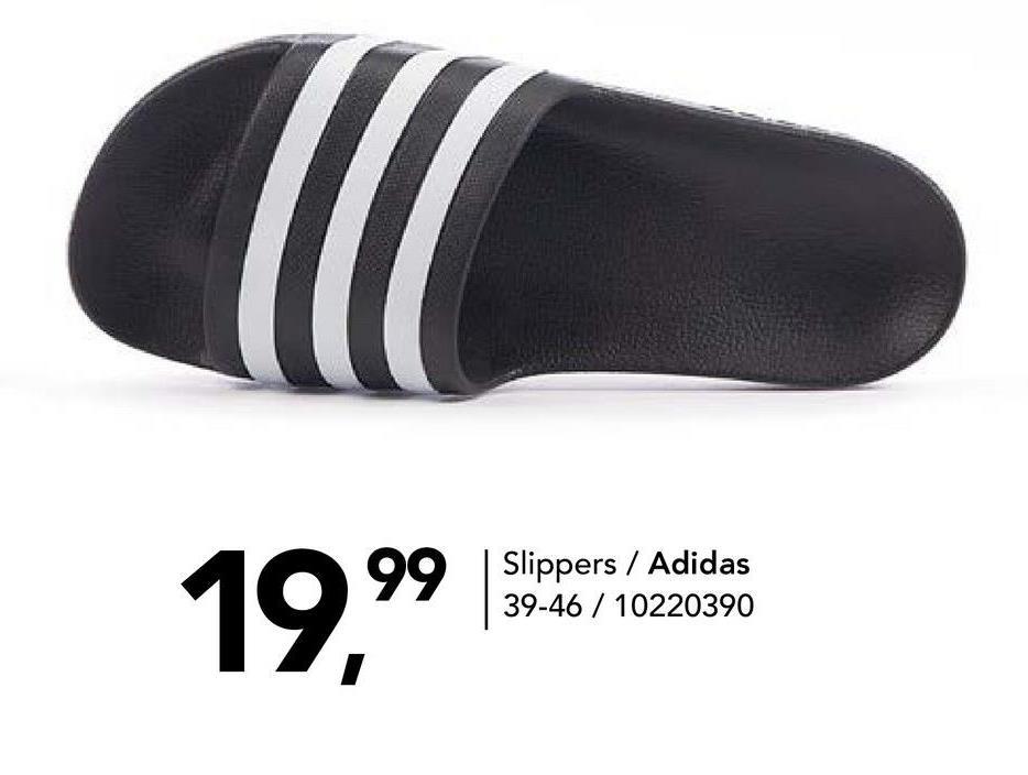 Slipper Adidas - Zwart - maat 39 - Heren   - Goedkope Slippers - Badslippers - Synthetisch Comfortabele slippers voor heren van het topmerk Adidas. Opgelet: dit artikel valt klein.