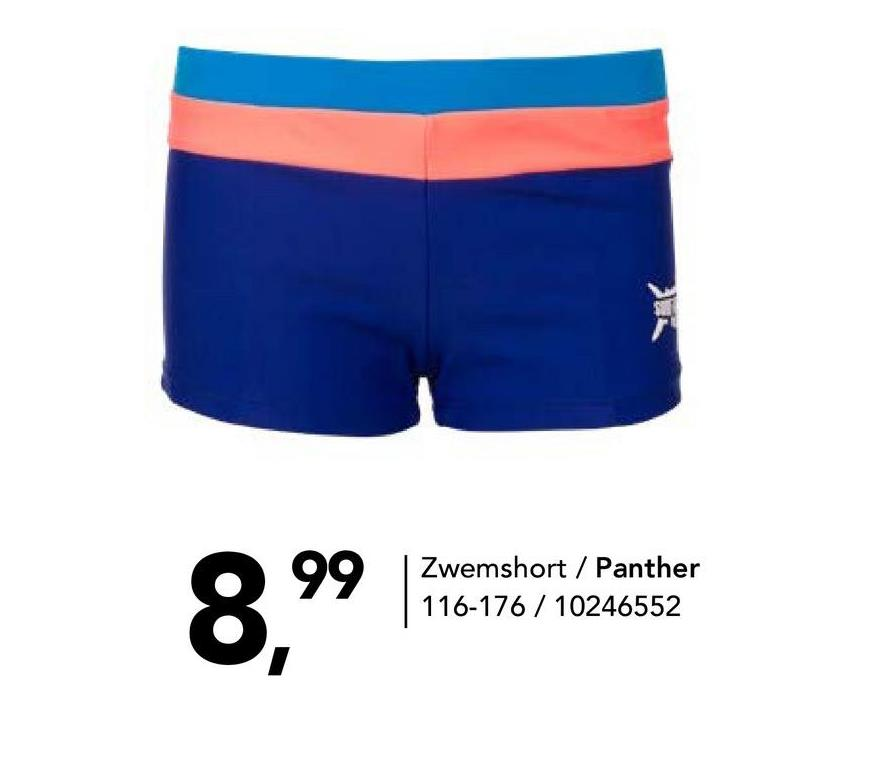 Zwemshort 3 kleuren Panther - Navy - maat 116 - Jongens   - Goedkope Badmode - Polyamide Strakke zwemboxer in 3 kleuren van Panther. Deze zwemshort voor jongens zit altijd lekker, in het zwembad of aan het strand. Met een elastische taille met aantrekkoordje.