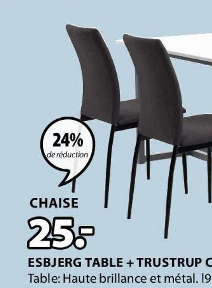 24% de réduction CHAISE 25: ESBJERG TABLE + TRUSTRUP Table: Haute brillance et métal. 19