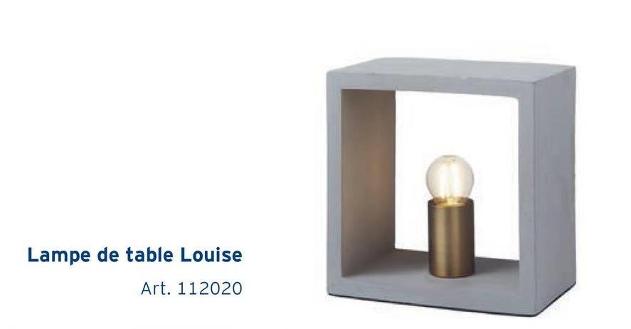 Lampe de table Louise Art. 112020