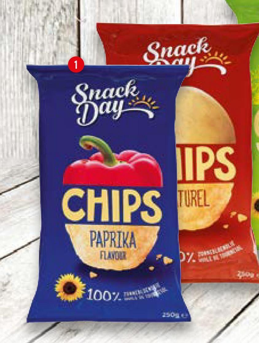 Snack 1 Bay Snack Day UPS CHIPS TUREL PAPRIKA 100%