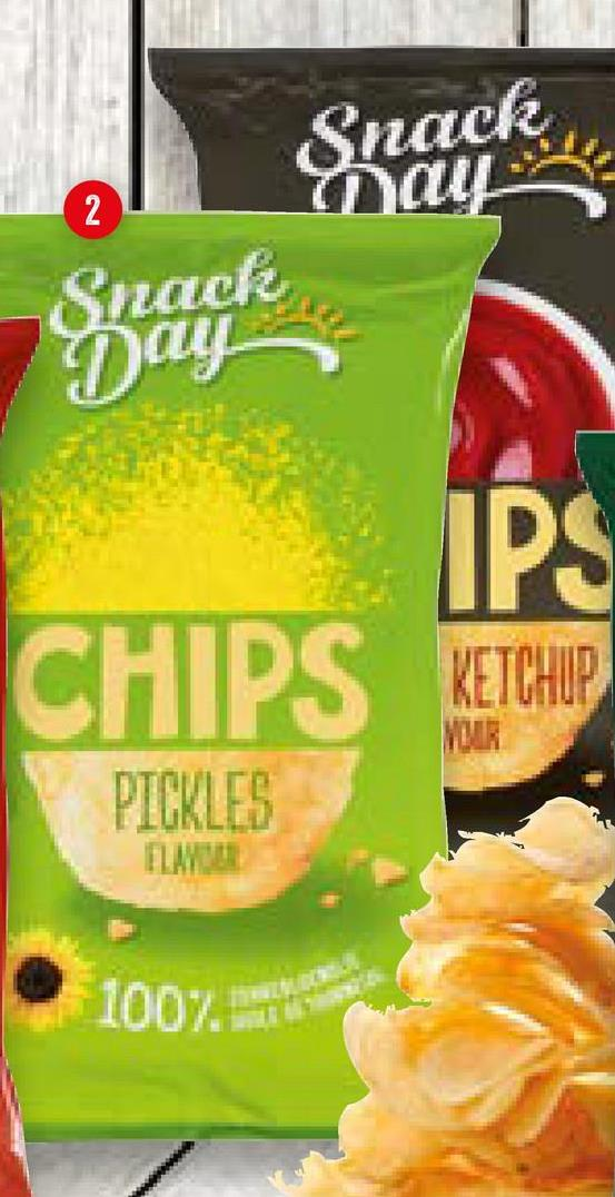 2 Snack may Snack Day IPS CHIPS KETCHUP MOIR PICKLES 100%