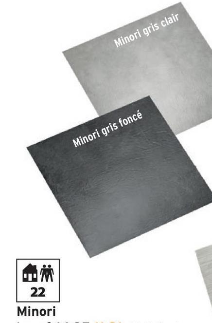 Dalle vinyle Peel & Stick Minori gris foncé 4,18 m² -