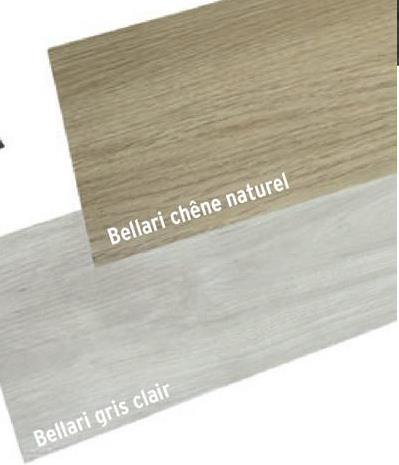 Vinyle Peel & Stick Bellari gris clair 3,06 m² -