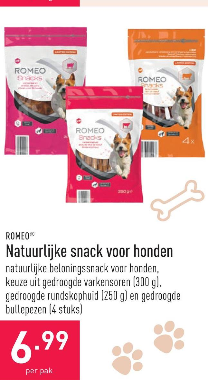 Natuurlijke snack voor honden natuurlijke beloningssnack voor honden, keuze uit gedroogde varkensoren (300 g), gedroogde rundskophuid (250 g) en gedroogde bullepezen (4 stuks)