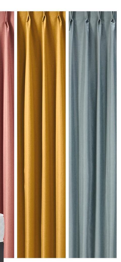 Gordijn Phileine Antraciet Modern en strakvormgegeven gordijnstof Phileine in antraciete kleur.