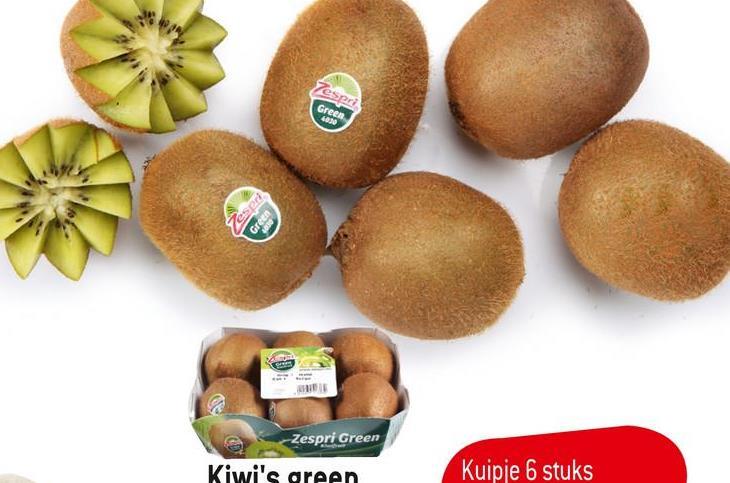 Tespri Green 4030 espre Zespri Green Kiwi's green Kuipje 6 stuks