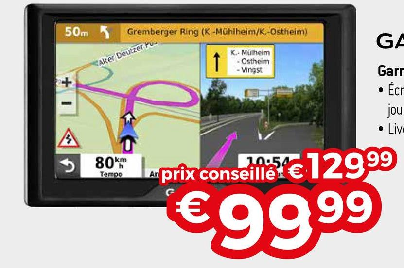 50m Gremberger Ring (K-Mühlheim/K.-Ostheim) GE Alter Deutzer 1 K-Mülheim - Ostheim - Vingst Garr • Écr jour • Live A 0 8 OKT Tempo prix conseilles de 12999 €9999