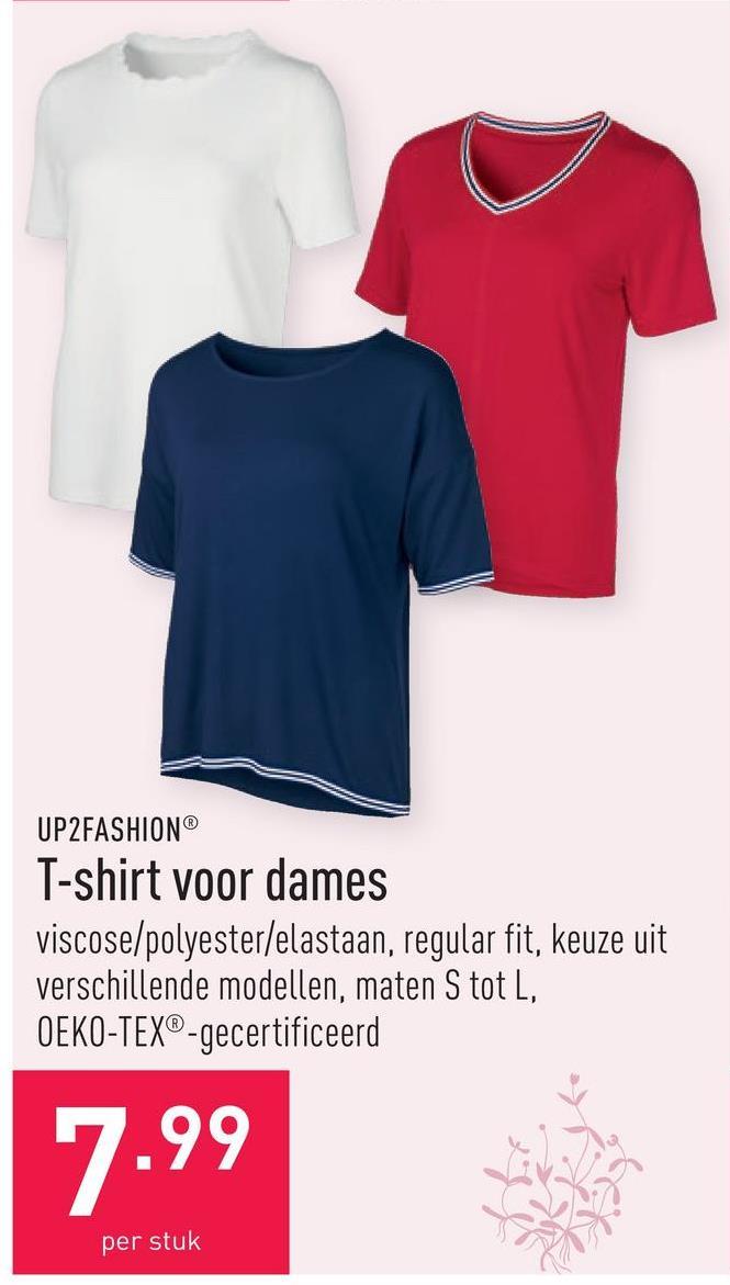 T-shirt voor dames viscose/polyester/elastaan, regular fit, keuze uit verschillende modellen, maten S tot L, OEKO-TEX®-gecertificeerd