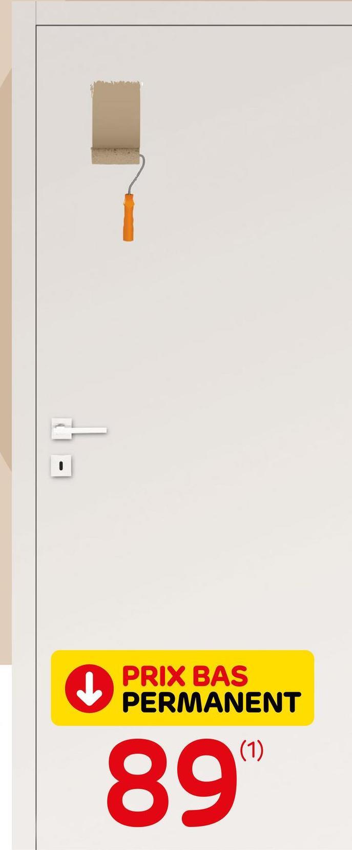 Bloc-porte Thys 'Concept 10' tubulaire à peindre 83cm Le bloc-porte Thys 'Concept 10' à peindre tubulairede 83cm est un modèle prêt-à-poser complet. Il comprend la feuille de porte, l'ébrasement de 16,9cm de large, les chambranles et les listels. Ce bloc-porte est prépeint et doit être traité avec une laque couvrante. La serrure Litto et les charnières à billes sont comprises. La poignée est vendue séparément.