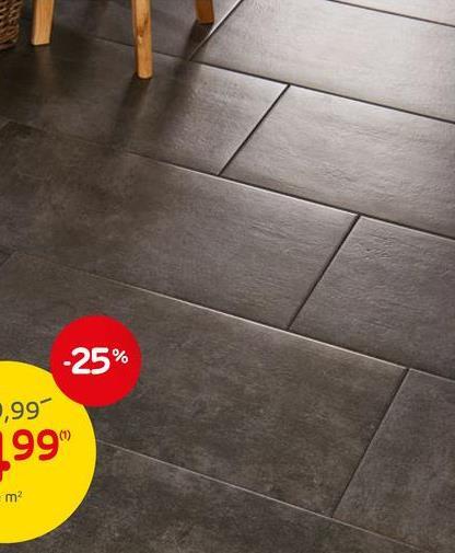 Carrelage sol et mur Beton anthracite 30,5x61cm Le carrelage sol et mur Beton anthracite est antidérapant et peut être placé aussi bien à l'intérieur qu'en extérieur. Les carrelages sont faits en grès cérame émaillé, avec une dimension de 30,5 x 61 cm, et sont conditionnés par paquet de 8 carrelages. Ils couvrent une surface totale de 1,58 m². La couleur gris chaud procure une ambiance agréable à vos pièces de vies. L'atout de ce carrelage : sa résistance au gel, pour un usage optimal en extérieur.