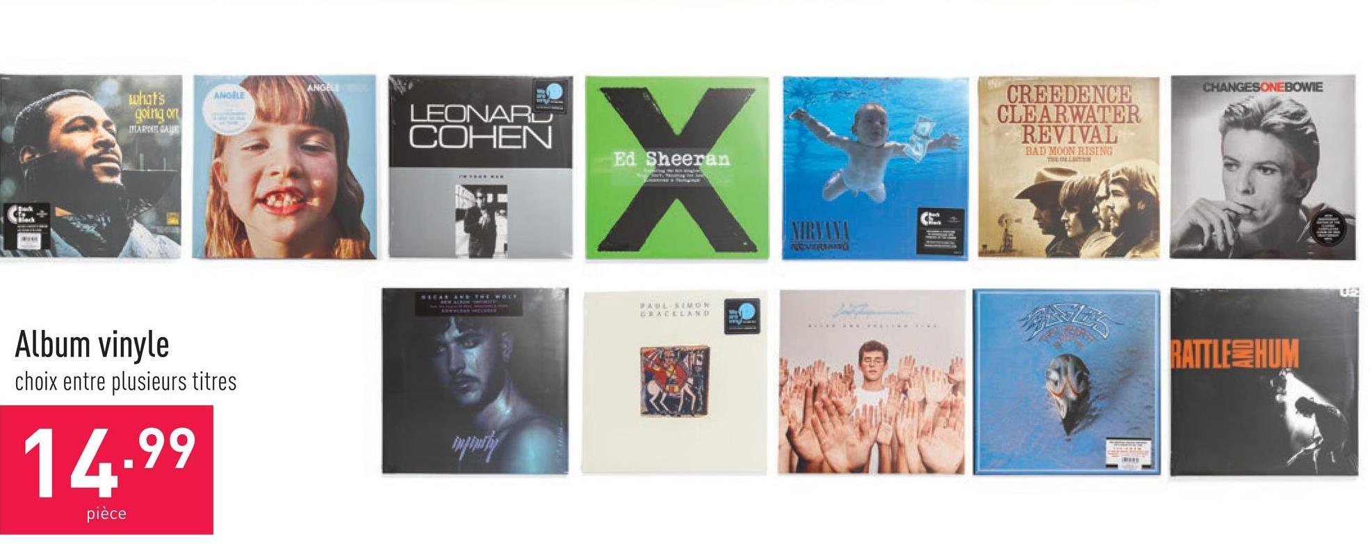 Album vinyle choix entre plusieurs titres