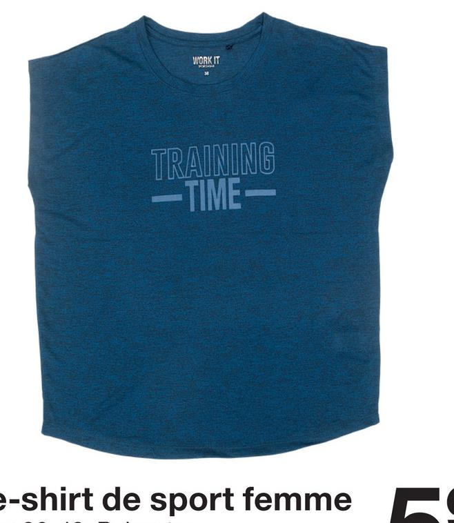 WORK IT TRAINING TIME: e-shirt de sport femme !