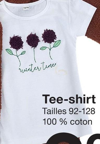 M0196 winter time Tee-shirt Tailles 92-128 100 % coton