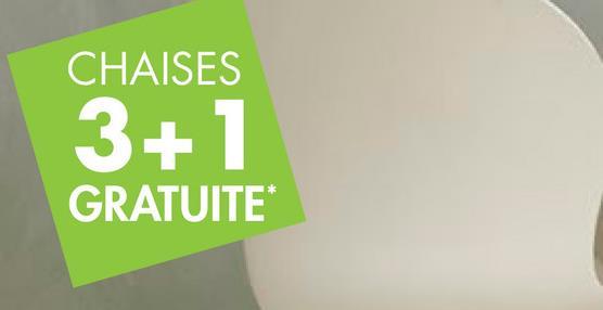 CHAISES 3+1 GRATUITE