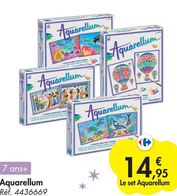 Aquarellum Aquarellum Aquarellem Aquarellum 7 ans+ € ,95 Le set Aquarellum 14, Aquarellum Réf. 4436669