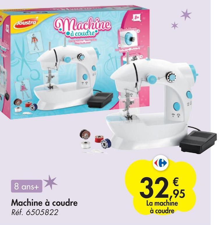 Joustra Machine à coudre Co Ale 8 ans+ 32.95 € ,95 La machine à coudre Machine à coudre Réf. 6505822