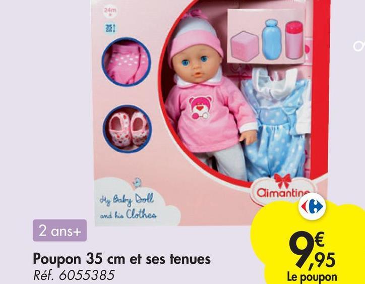 240 DO Aimantine My Baby Doll and his Clothes 2 ans+ 9895 Poupon 35 cm et ses tenues Réf. 6055385 Le poupon