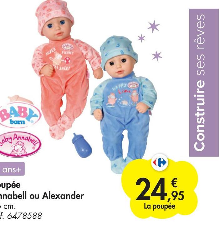 SURUA FUNNY SREE Construire ses rêves P3 BAB barn g Annabell ans+ upée anabell ou Alexander cm. f. 6478588 € ,95 La poupée