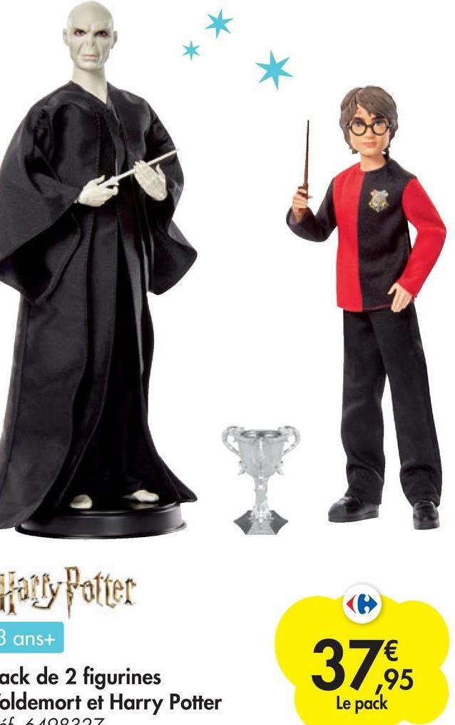 ratty Potter 3 ans+ ack de 2 figurines oldemort et Harry Potter 3762 ,95 Le pack af 6100227