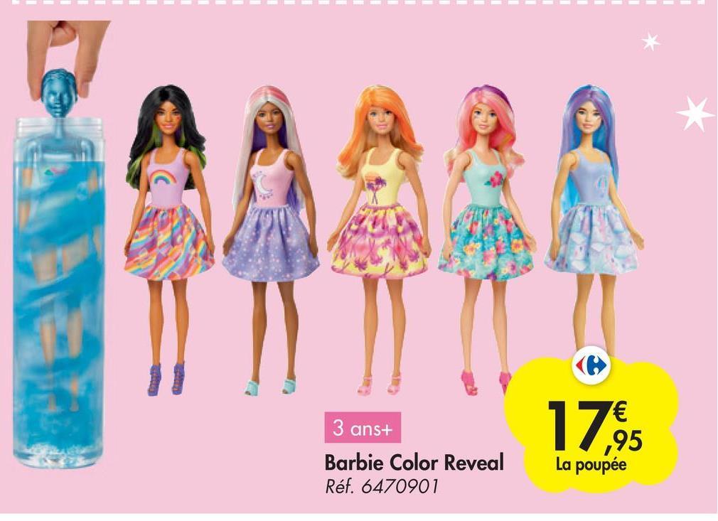 1795 3 ans+ Barbie Color Reveal Réf. 6470901 La poupée
