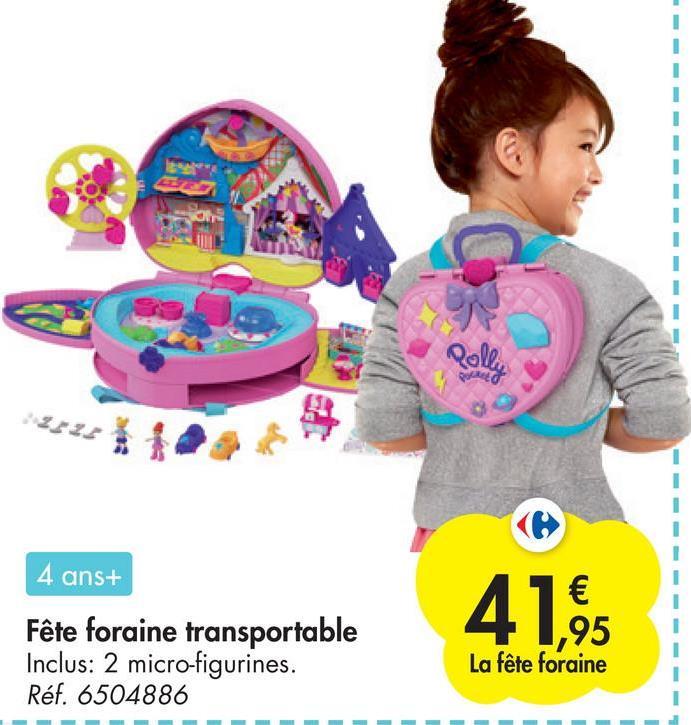 Rally 4 ans+ Fête foraine transportable Inclus: 2 micro-figurines. Réf. 6504886 41,6 1,95 La fête foraine