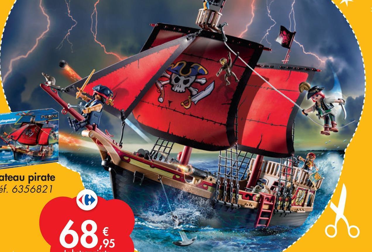 Neres playmobil ateau pirate éf. 6356821 (o 68. € ,95