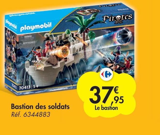 Please link Pirates playmobi! 101 pd 704135+ 3765 € ,95 Le bastion Bastion des soldats Réf. 6344883