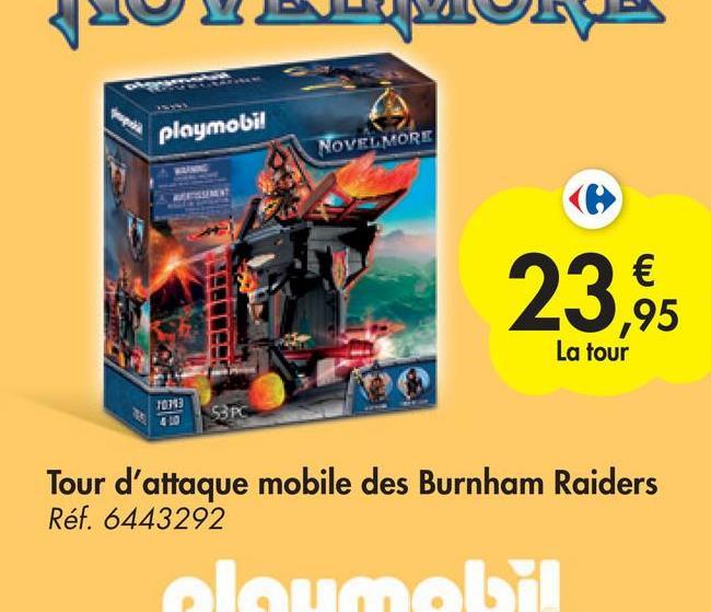 playmobi! NOVELMORE € ,95 La tour 10343 SR Tour d'attaque mobile des Burnham Raiders Ref. 6443292 จบการ