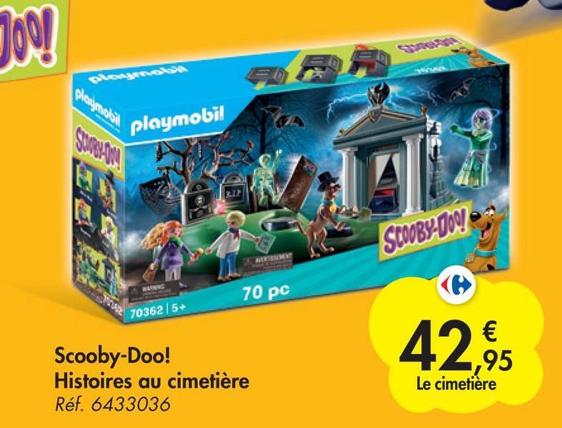 Joo! playmobil SCOOBY-DOO! 70 pc ( 70362 / 5+ 42,95 Scooby-Doo! Histoires au cimetière Réf. 6433036 € 95 Le cimetière