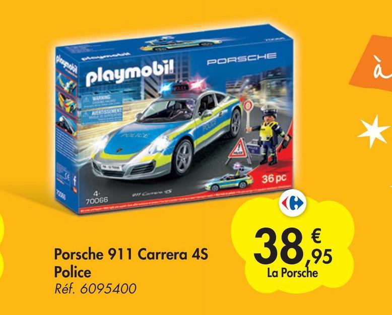 PORSCHE playmobil a 36 pc SS. 70066 38,95 Porsche 911 Carrera 4S Police Réf. 6095400 La Porsche