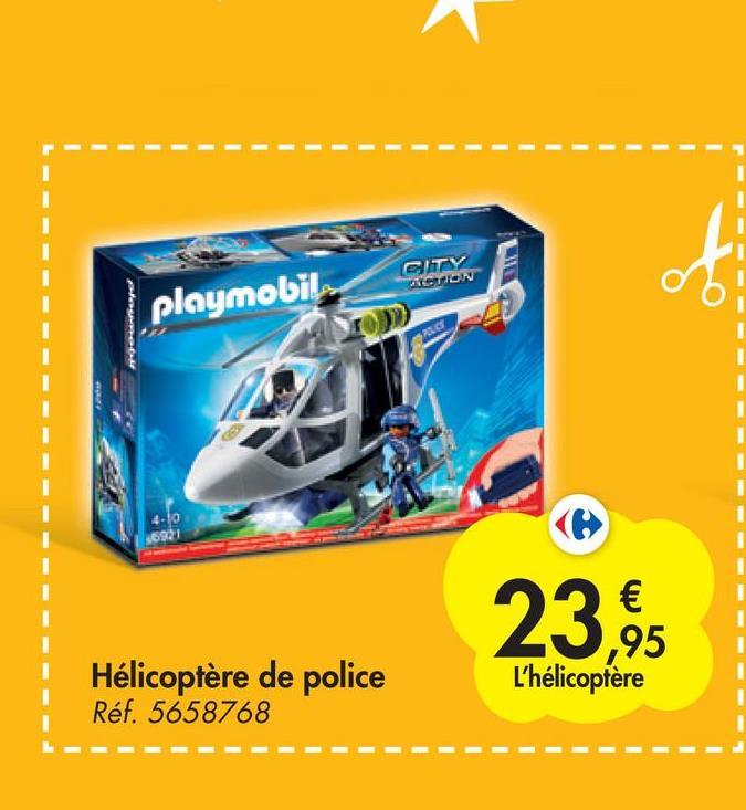 CITY ALGUION playmobil e 16921 23 € ,95 L'hélicoptère Hélicoptère de police Réf. 5658768