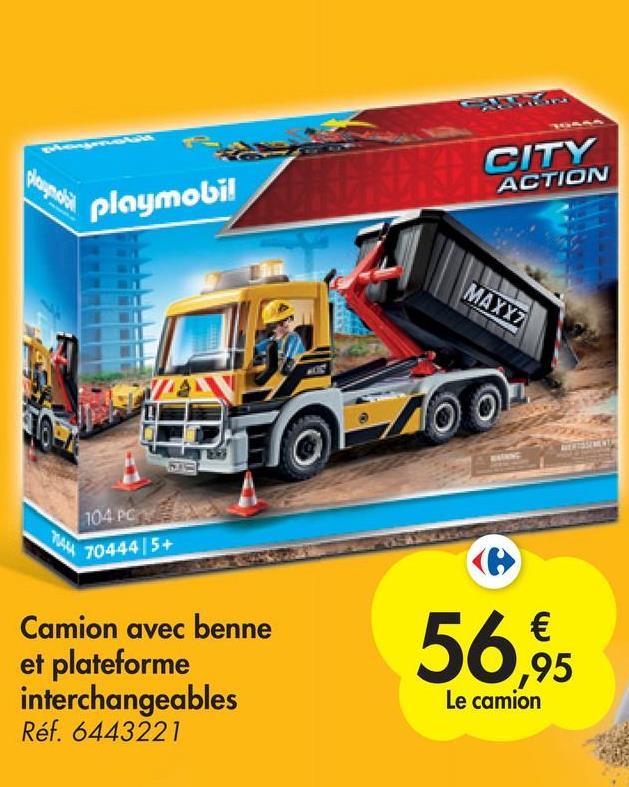 CITY ACTION playmobil MAXYZ 104.PG 704445+ Camion avec benne et plateforme interchangeables Réf. 6443221 56,95 Le camion