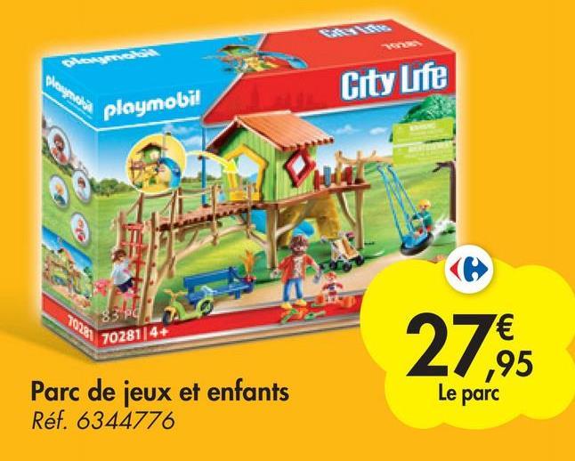 wappeals City Life playmobil 70281/4+ 27.95 Parc de jeux et enfants Réf. 6344776 Le parc