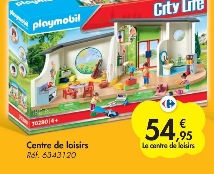 Crty ste playmobil ws 180PC 70280/4+ € 1,95 Le centre de loisirs 54,95 Centre de loisirs Réf. 6343120