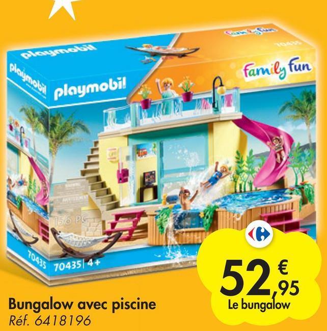 plongenali family fun playmobil 150 PS 7 70435/4+ 52,6 Bungalow avec piscine Réf. 6418196 Le bungalow