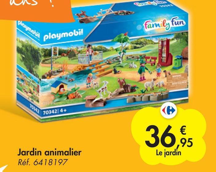 pogolo family fun playmobil 70342| 4+ € ,95 Le jardin Jardin animalier Réf. 6418197