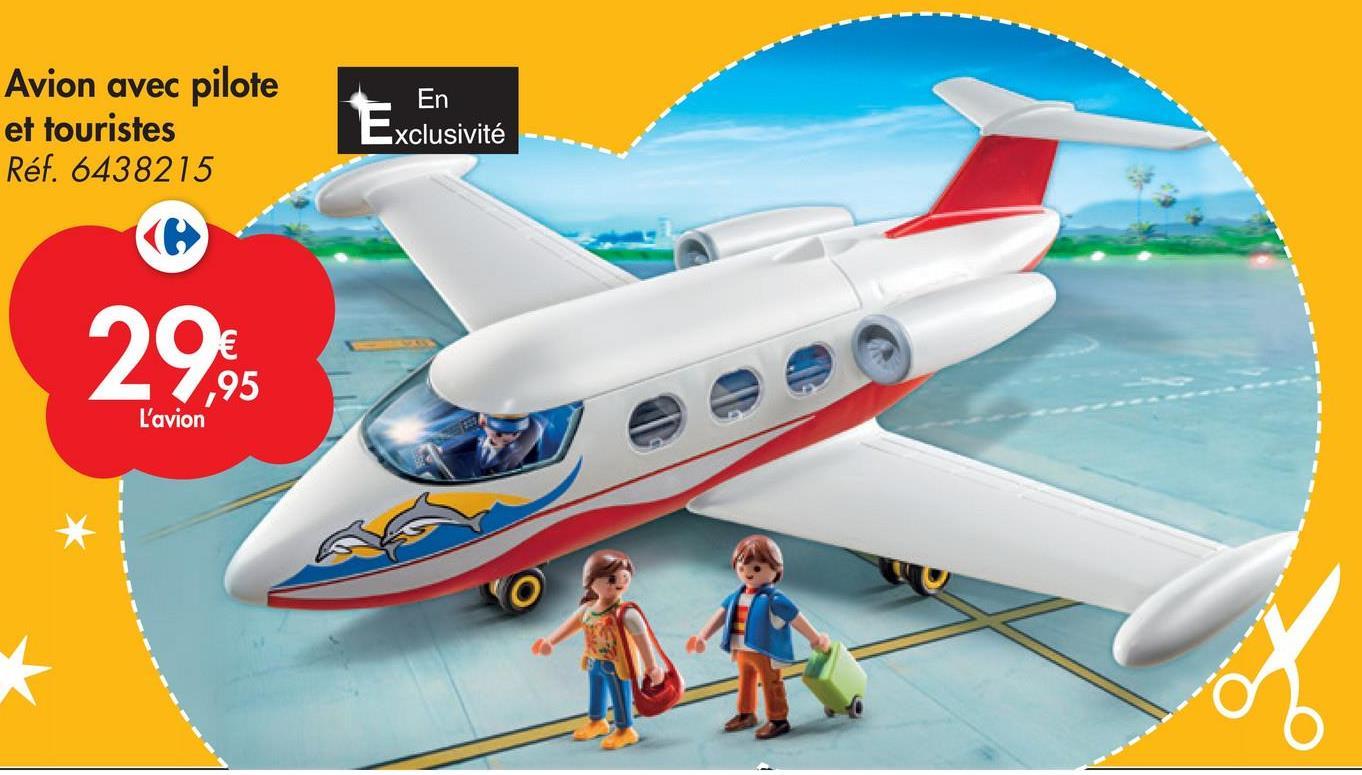 En Avion avec pilote et touristes Réf. 6438215 Exclusivité 298 ,95 L'avion *