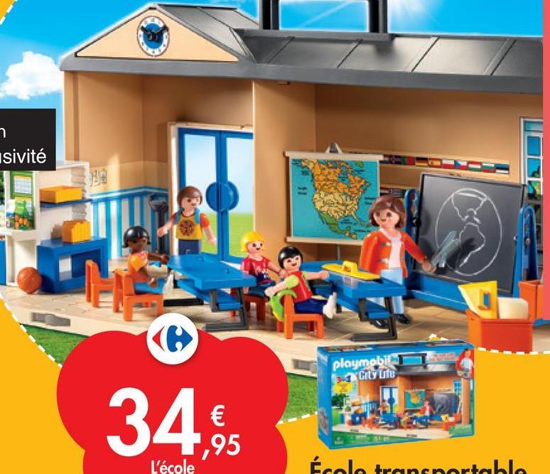 า usivité playmobil City Lite 34 € 1,95 L'école Écolo transportable