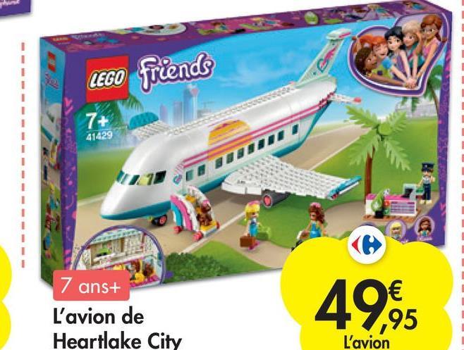 LEGO friends 7+ 41429 7 ans+ L'avion de Heartlake City € ,95 L'avion