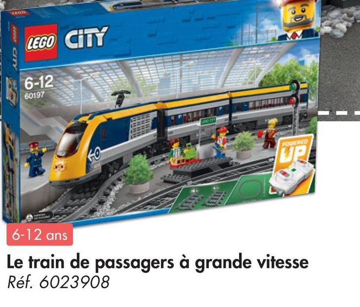 LEGO CITY 6-12 60197 PORED 6-12 ans Le train de passagers à grande vitesse Réf. 6023908