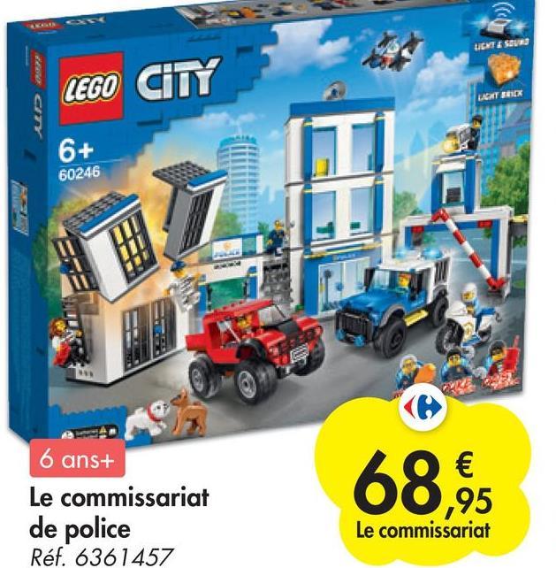 UCITE SOUND LEGO CITY ACHT SICK 6+ 60246 6 ans+ Le commissariat de police Réf. 6361457 68.95 Le commissariat