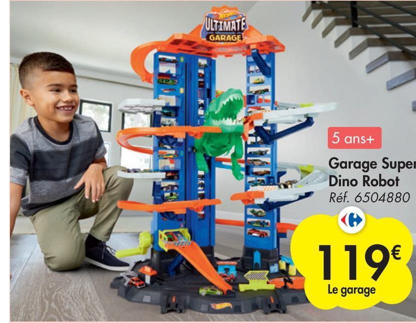 ULTIMATE GARAGE 5 ans+ Garage Super Dino Robot Réf. 6504880 119€ Le garage