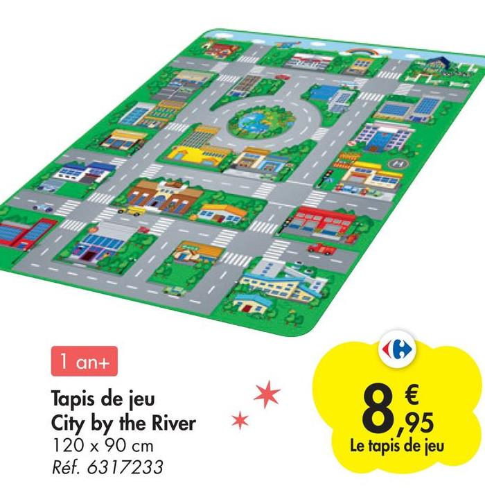 an ninh, ## 1 an+ Tapis de jeu City by the River 120 x 90 cm Réf. 6317233 8,6 ,95 Le tapis de jeu