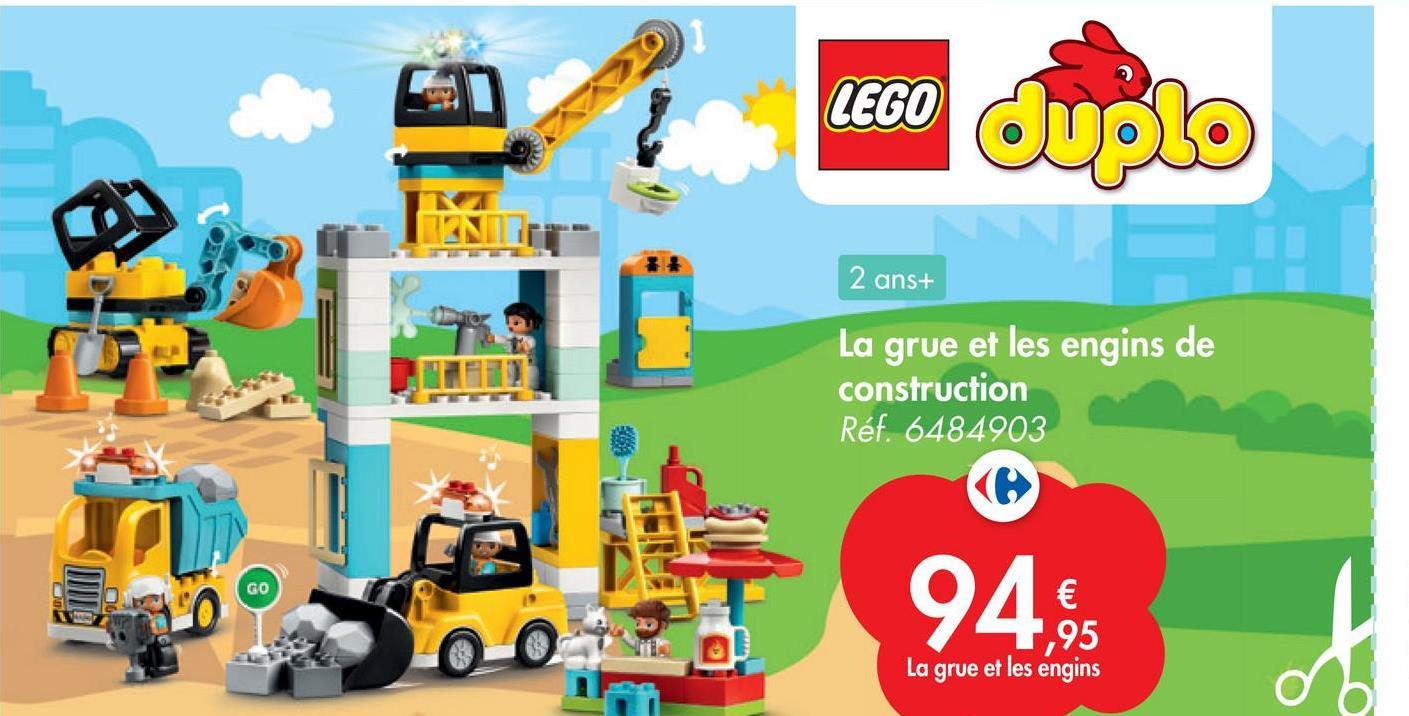 LEGO Duplo 2 ans+ EN La grue et les engins de construction Réf. 6484903 GO 94% 1,95 La grue et les engins o