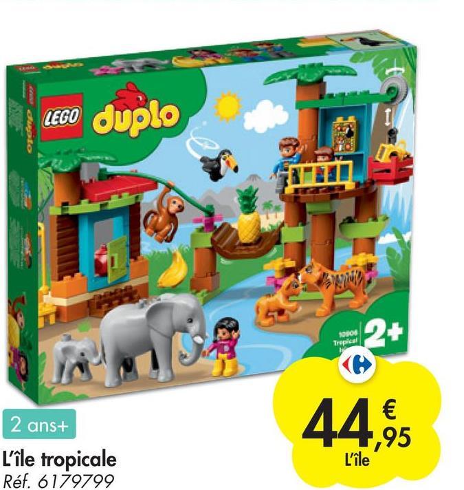 LEGO duplo 2010 Trepical 2 2 ans+ L'île tropicale Réf. 6179799 € ,95 L'île